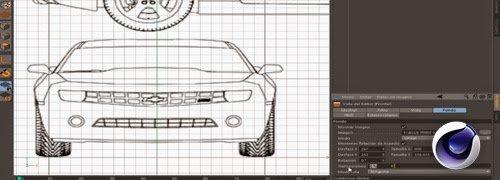 Como configurar un plano para modelar en Cinema 4D