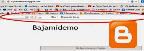 Como quitar la barra de blogger google