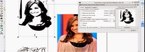 Como vectorizar o convertir una foto a dibujo con Inkscape