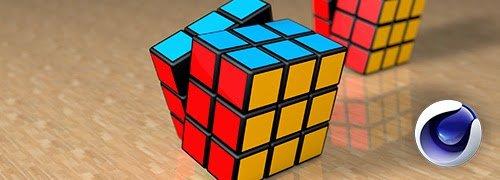 Cinema 4d como modelar un cubo de rubik