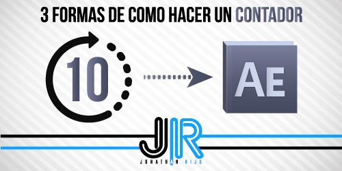 Tres formas de como hacer un contador en After Effects