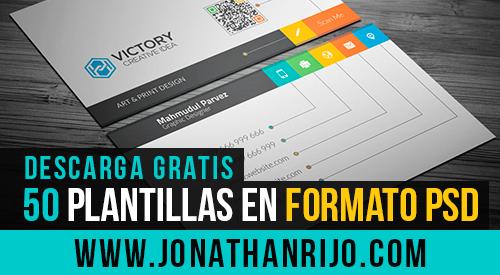 Jonathanrijo.com - 50 plantillas de tarjetas de presentacion en PSD GRATIS