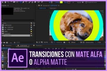 Como crear transiciones en After Effects con Mate Alfa - Alpha Matte - Jonathanrijo.com