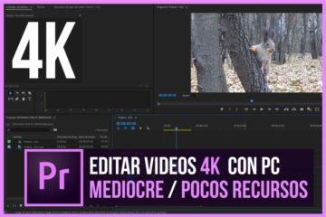 Editar vídeo 4K en PREMIERE con PC DE BAJOS RECURSOS   Tutorial - Jonathanrijo.com